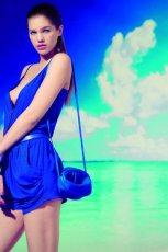 niebieski kombinezon Stradivarius - lato 2011