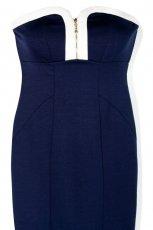 granatowa sukienka Reserved z zamkiem - wiosna 2011