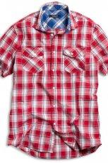 czerwona koszula Kappahl w kratk� - wiosna/lato 2011