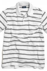bia�a koszulka Kappahl w paski polo - moda wiosna/lato