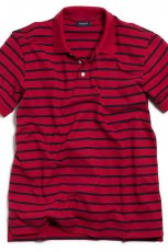 czerwony koszulka Kappahl w paski polo - moda wiosna/lato