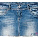 niebieska sp�dnica Reserved mini - moda 2011