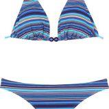 niebieskie bikini She w paski - lato 2011