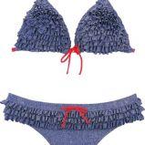popielate bikini She z falbanami - lato 2011