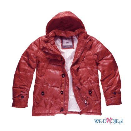 czerwona kurtka Big Star z kapturem b�yszcz�ca - jesie�/zima 2011/2012