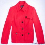 czerwony p�aszcz Aryton z kieszeniami - jesie�/zima 2011/2012