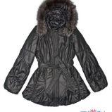 czarna kurtka Aryton z kapturem b�yszcz�ca - jesie�/zima 2011/2012