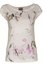 bia�y t-shirt Top Secret z aplikacj� - trendy na jesie�-zim�
