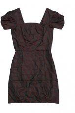 czarna sukienka Bialcon w grochy - trendy na jesie�-zim�