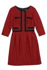 czerwona sukienka Bialcon - trendy na jesie�-zim�