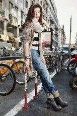 br�zowe botki Prima Moda z ko�nierzem - moda 2011/2012