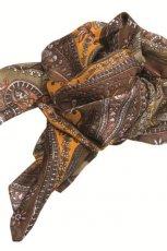 br�zowa apaszka Aryton we wzorki - sezon jesienno-zimowy