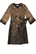br�zowa sukienka Aryton we wzory - z kolekcji jesie�-zima