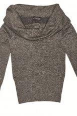 popielaty sweter Aryton z golfem - trendy na jesie�-zim�