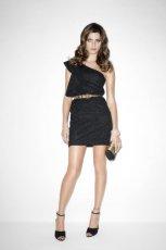 czarna sukienka Mango mini - jesie� 2011