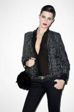 czarne spodnie Mango - jesie� 2011