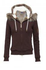 br�zowa bluza Van Graaf z kapturem - z kolekcji jesie�-zima