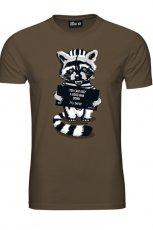 br�zowy t-shirt New Yorker z nadrukiem - moda 2011/2012