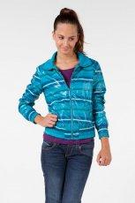 niebieska kurtka Bershka w paski - kolekcja jesienna