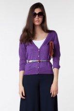 fioletowy sweter Bershka rozpinany - trendy jesienne