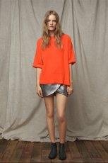 pomara�czowa bluzka ZARA - moda 2011/2012
