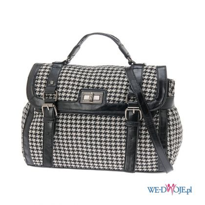 czarna torebka Aldo w pepitk� - moda 2011