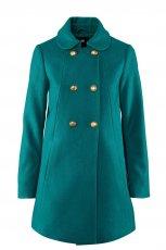turkusowy p�aszcz H&M - jesie�/zima 2011/2012
