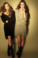 czarna sukienka Stradivarius - trendy jesienne