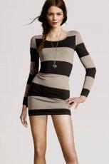 sukienka H&M w pasy - kolekcja jesienno-zimowa