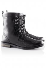 czarne botki H&M - moda zimowa