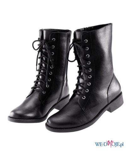 czarne kozaki H&M - zima 2011/2012