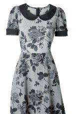 szara sukienka Simple w kwiaty - moda 2011/2012