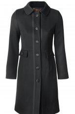 czarny p�aszcz Simple - moda jesie�/zima