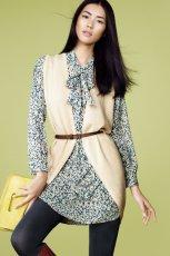 ecru kamizelka H&M - jesie� 2011