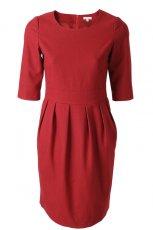czerwona sukienka Solar - trendy jesienne