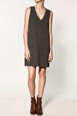 khaki sukienka ZARA - kolekcja jesienna
