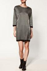 popielata sukienka ZARA - jesie�-zima 2010/2011