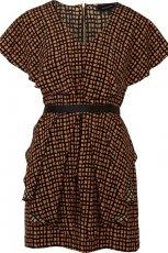 br�zowa sukienka River Island z pasem - jesie�/zima 2011/2012