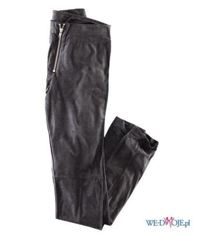 czarne spodnie H&M sk�rzane - jesie�/zima 2011/2012