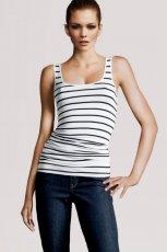 bia�y top H&M w paski - kolekcja jesienna