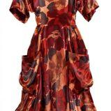 czerwona sukienka H&M w kwiaty - jesie�/zima 2011/2012