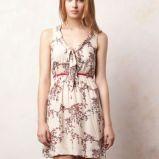 bia�a sukienka Pull and Bear w kwiaty - jesie�/zima 2011/2012