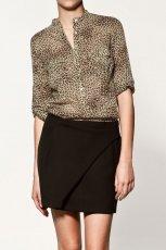 br�zowa bluzka ZARA w panterk� - moda jesie�/zima