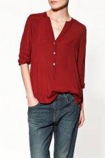 bordowa bluzka ZARA - moda 2011/2012