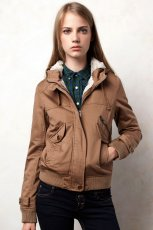 be�owy kurtka Pull and Bear - jesie�/zima 2011/2012