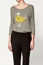 szara bluzka ZARA - moda jesienna