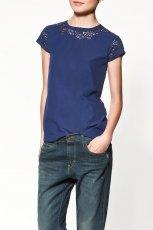 granatowa bluzka ZARA - moda jesienna