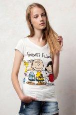 bia�y t-shirt Pull and Bear z nadrukiem - jesie�/zima 2011/2012