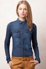 niebieska koszula Pull and Bear - jesie�/zima 2011/2012