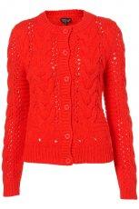 czerwony sweter Topshop - jesie�/zima 2011/2012